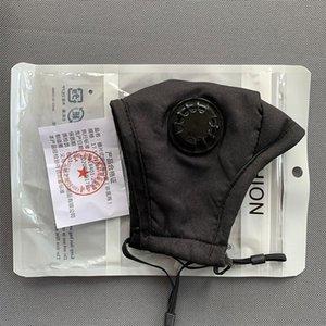 Yıkanabilir Vana Yeniden kullanılabilir Maskeleri Yüz Solunum Maskesi Anti-toz PM2.5 1 Karbon Filtre Protectivecotton Pembe Siyah Beyaz Çanta Mascherin Uyh0 # ile