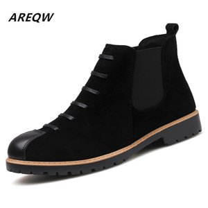 2020 Autumn and Winter Boots Korean Version of The Trend of Men's Leather Casual Boots England Wind Set Foot Men's