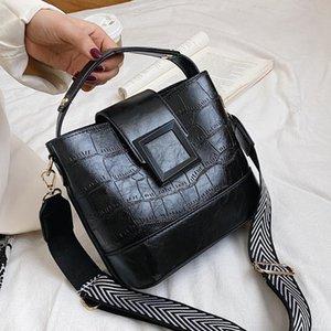 Bucket Bags Women Crocodile Pattern Handbag Capacity Casual Crocodile Shoulder Messenger Bags Ladies PU Purse