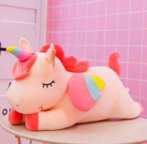 A003 New pink Cotton Rope Unicorn plush toy 40cm stuffed animal Toy Cuddly Plush pillow Doll Baby Kids Cute oversize Toy For Children g