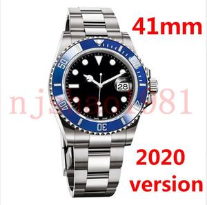 2020 새 버전 41mm 남성 남성 Sprot 시계 시계 Stanless 철강 기계 자동 손목 시계