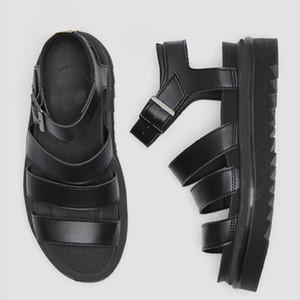 2021 Luxury Sandals Women Black Summer Causal Shoes Comfortable Genuine Leather buckle Platform Designer Gladiator Sandals Size 35-40