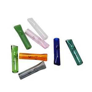 Мини-стекла Фильтр Советы Курительные Стеклянные трубы многоразовый фильтр Советы Flat Head Glass Mouth Советы форсунку Курительные принадлежности GGA37010-5