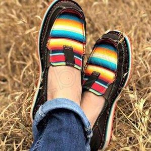 Espadrilles Chaussures kadınlar Çizgili Patchwork Ayakkabı Moda Loafers Sneakers Nefes tek Ayakkabı GGA3724 Slip On Casual ayakkabılar daireden