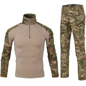 Tactical Hunting Clothes Camouflage Uniform Suits Outdoor Training Camping Cycling Combat T Shirt Pants Frog Tracksuit