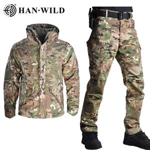 HAN WILD G8 Tactical Jacket Set with Pants Camouflage Uniform Suit US Army Clothes Uniform Combat Shirt+Pants
