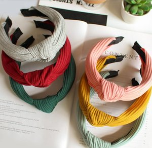 Top Knot Hairband Headbands for Women Cloth Flowers Striped Smile Head Wrap Headwear for Girls Hair Accessories ps1789