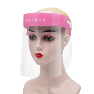 Rosto PET escudo anti-fog Isolamento Máscara Protetora completa máscara transparente proteção contra respingos Gotas Head Cover Máscara Designer 500pcs CCA12530