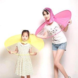 Cap Ombrello Guarda Raincoat Pioggia Ombrellone creativo invertido impermeabile dell'ombrello Copricapo Umbrella Hat Donne Chuva Pesca Mujer rViiy