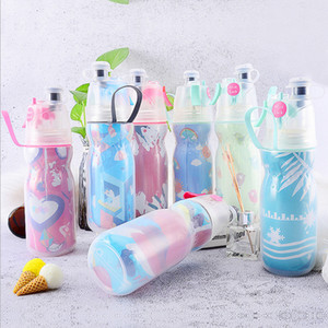 Wholesale High Quality 16oz 21oz Mist Spray Water Bottle Outdoor Cycling Jogging Hiking Sport Water Bottle BPA Free Plastic Water Bottle