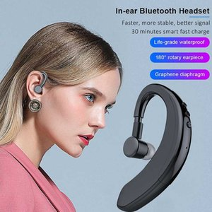 Y10 Bluetooth 5.0 Wireless Stereo Ear Hook Sports Headphones Business Driving Handsfree With Microphone Headset