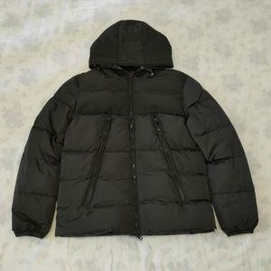 Mens rivestimento di inverno giù ricoprono il Windbreaker spessore caldo incappucciato Moda inverno cappotto di alta qualità 100% piume d'anatra bianca giacca donna