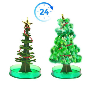 Fast Ship Magia crescente da árvore de Natal DIY Magia Árvore crescente sua própria Fun Xmas Toy presente 14 * 7cm / 5,51 * 2.76in