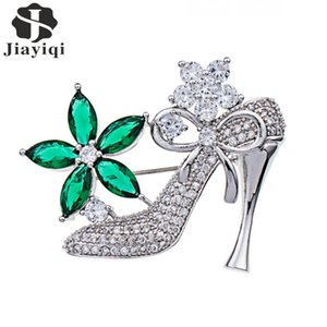 wholesale New Unique Design High Heels Brooches For Women Gift Backpack Clothes Decoration Suit Lapel Pins