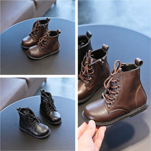 Children's Dunk High Martin boots 2020 autumn new listing boy small leather shoes side zipper girls leather boots shoes fashion trend