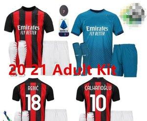 2020 AC Milan IBRAHIMOVIC futbol forması yetişkin kiti 120 dönümü baskısı Paquetá ROMAGNOLI Piatek formalarını Camisa AC Milan 20/21