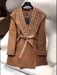 Outono e inverno clássico com capuz casaco de caxemira moda all-jogo coat 0919
