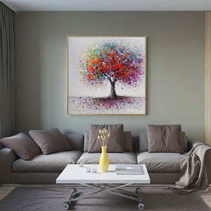 2020 Fashional Abstract Trees Landscape Oil Paintings Print on Canvas Colorful Pop Art Canvas Prints Wall Pictures for Living Room Cuadros