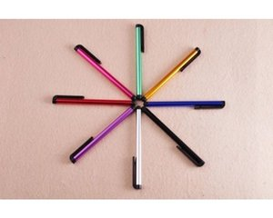 Wholesale Universal Capacitive Stylus touch Pen for Iphone 5 5S Screen Cell Phone For Tablet 10 color 1000pcs lot