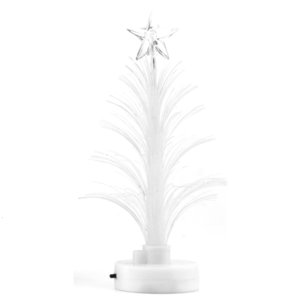 Lâmpada colorida Fiber Optic Led Nightlight Decoração Luz Mini Christmas Tree Oaxy
