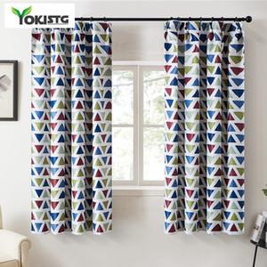 YokiSTG géométrique Triangles Blackout Rideaux pour Salon Chambre Cuisine moderne polyester imprimé fenêtre de traitement Tentures