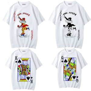 Poker Chinese style trendy printed T-shirt brothers short sleeve men's couple clothes student clothes HKN0