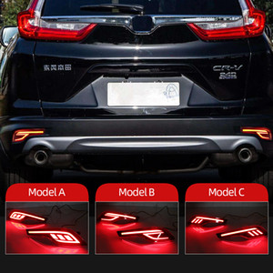 2 pcs Refletor para Honda CRV CR-V 2017 2018 2019 LED Bumper Traseira Luz traseira Lâmpada de Nevoeiro Auto Lâmpada Freio Luz