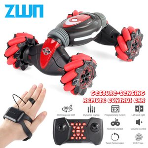 Remote Control Stunt Car Gesture Induction Twisting Off-Road Vehicle Light Music Drift Dancing Side Driving RC Toy Gift for Kids T200908