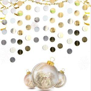 Noël Twinkle ronde étoiles de papier Garland Décorations de Noël pour la maison Ornements Kerst Nouvel An Navidad Xmas Party