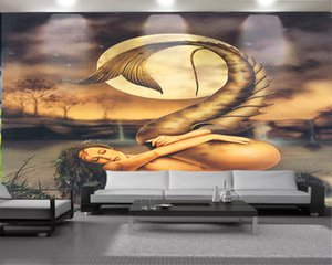 Character 3d Wallpaper 3d Modern Wallpaper Naked Beauty in the Dream Landscape Living Room Bedroom TV Background Wall Wallpaper