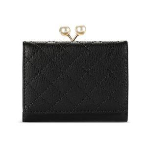 Women's short rusty wire purse fashion pearl clip women's purse Coin Purses Card Holders