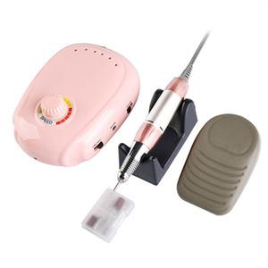 20W 35000RPM électrique Nail Drill machine manucure pédicure outil Set Bit Nail Broyage Vitrage machine pour le gel PolishRabin