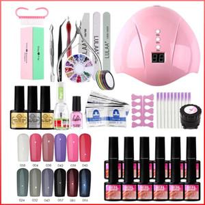 Nail Set UV LED Lamp Dryer With 33Pcs Nail Polish Kit Manicure Tools Electric Drill Gel Polish Acrylic Kit Art Tools