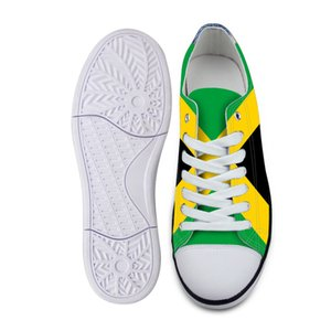 Jamaica youth student shoes free custom name number unisex shoes nation flag country college print photo logo casual shoes