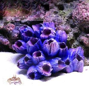 Simulazione creativa Coral Reef Fish Tank paesaggistica resina Starfish decorazioni acquario ornamenti