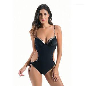 Women Swimwear Leopard Print Designer Women Swimsuits Sexy Slim One Piece Sets Casual Summer Bikini Fashion