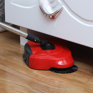 Push Type Hand Push Sweeper Sweeping Machine Stainless Steel Magic Broom Dustpan for Easily Portable Cleaning Elements