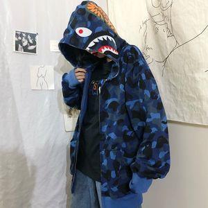 FMZXG Frühling und Herbst 2020 Waitmore Shark Camouflage Hoodie verfügbar Lockere Slouchy Jacke