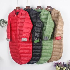 SEDUTMO hiver Oversize canard doudounes femmes ultra léger mince long manteau d'automne Casual Noir Veste ED1212 Puffer