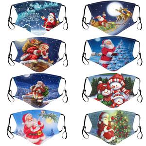 Noël Père Noël Visage Bouche Masque drôle anti-poussière de coton filtre Masques peut être mis de mode unisexe hiver chaud masque lavable