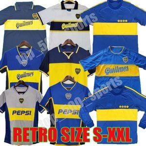 1981 1995 1996 1997 1998 1999 2000 2001 2002 2003 2005 Boca Juniors ROMAN MARADONA Jahrgang klassischen Fußball-Shirt 97 99 Trikots Retro-Fußball
