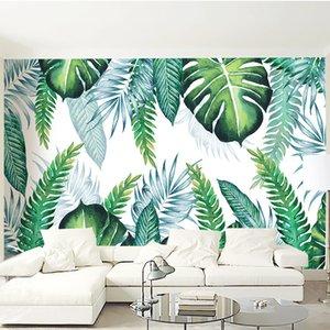 Custom mural wallpaper modern tropical plant leaf wall covering living room living room TV sofa home decoration waterproof wallpaper 3D
