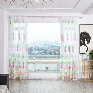 Banana Leaf Curtains Tropical Leaves Modern Window Living Room Bedroom Curtains Home Textile Polyester Fabric
