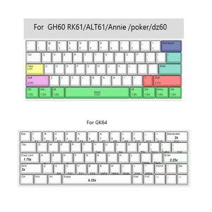 Klavyeler Penguen Boya-Süblimasyon Klavye Sevimli KeyCaps PBT OEM Profil KeyCap için GH60 77ha