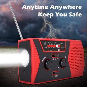 Portable Hand Crank Solar Emergency Radio AM FM NOAA Outdoor Alarm Radiogram for Weather Noticing Accessaries Supplies