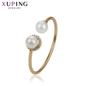 Xuping Fashion Gold Color Plated Temperament Bangle New Arrival High Quality Jewelry for Women Girls Wedding Gift S72,3-51749