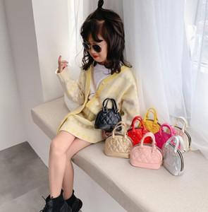Ins Crianças Saco de Shell Estilo Coreano Pu Embossed Padrão Bolsa Bebê Criança Meninas Crossbody Mini Chain Shell Bolsas Bolsas A169