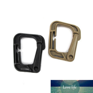 Fast Hanging Mountaineering Buckle Keychains Mouth Shape Tactical Climbing Carabiner Keyrings Plastic Steel D Buckles Fit Hanging Bag 1dt E1