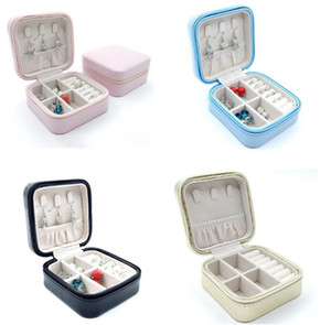 Jewelry Boxes Portable Travel Storage Box Organizer PU Leather Display Storage Case for Necklace Earrings Ring Jewelry Holder Gift Box