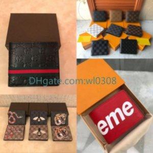 Top alta qualidade Lwallet Paris xadrez estilo dos homens do desenhista carteira carteira mulheres high-end S designer de animais G Carteiras com caixa gratuitas Correio de ar 66